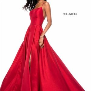 SHERRI HILL Red Dress Style #52022